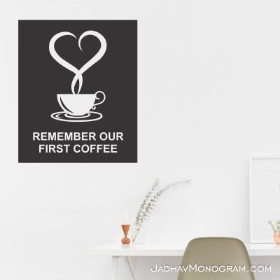 coffee wall monogram