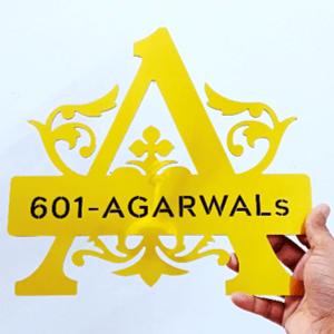 house name plate design monogram